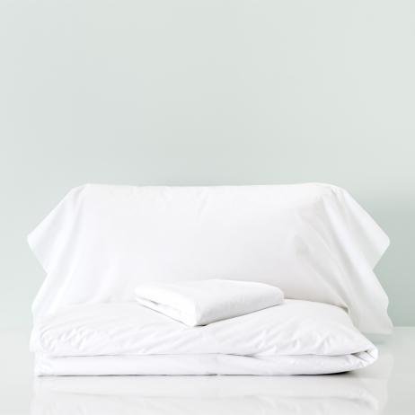 Funda nórdica con bajera percal algodón cama 90 cm Niza