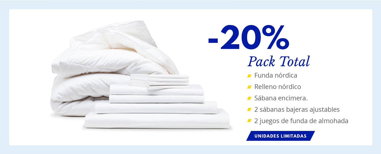 pack total 20 descuento The White Basics